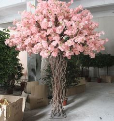 Wedding Decorative Pink Indoor Artificial Cherry Blossom Tree From Artificial Tree Factory - Buy Wedding Decorative Pink Indoor Artificial C Peach Blossom Tree, Blossom Tree Wedding, Artificial Cherry Blossom Tree, Cherry Blossom Flowers, Artificial Tree, Peach Blossoms, Blossom Trees, Wedding Centerpieces, Wedding Decorations