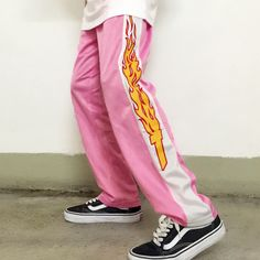 FLAMES PANTS – Boogzel Apparel