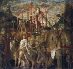 The Triumphs of Caesar, V: The Elephants, c.1484-92 (tempera on canvas)