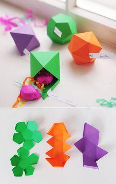 DIY : Make these cute geometric trinket boxes