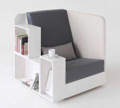 Bibliochaise, bibliopouf... 7 meubles absolument géniaux !