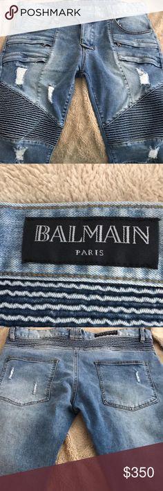 Balmain shorts Only worn once. Balmain denim shorts. Balmain Shorts Jean Shorts