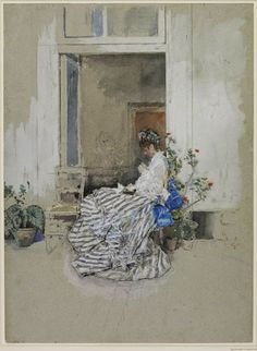 Mariano Fortuny - Retrato de Cecilia de Madrazo, esposa del artista, 1874