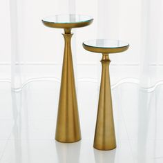 Studio A Minaret Accent Table-Satin Brass-Sm on sale. A simple silhouette inspired by centuries-old Middle Eastern architecture, the Minaret accent tables are perfectly spun to achieve crisp, clean lines.