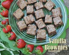 Vanilla Brownies - moist and fudgy in the centers, chewy on the edges