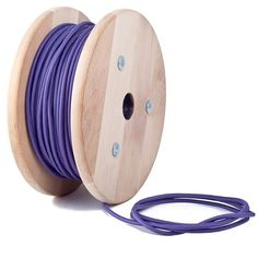 Purple textile cable by Cablelovers
