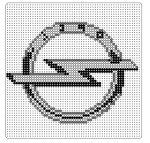 opel Crossstitch, Logos, Cars, Other, Cross Stitch, Punto De Cruz, Seed Stitch, Logo, Cross Stitches