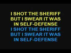 Eric Clapton - I Shot The Sheriff - Karaoke - Lyrics