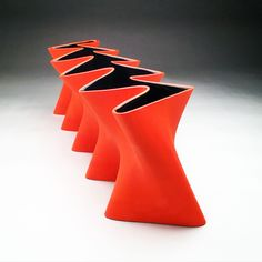 Zipper Vase is one of our most stunning pieces.  Bright reds and oranges with a black inside make this a show stopper.  Great for the home or office. Purchase easily on our website. . . #art #ceramics #handmade #buylocal #slipcast #modern #clay #local #dallas #artist #love #clay #interiordesign #fashion #design #decor #deco #interiordecor #architecture #decoration #olivercollie #vase #localbusiness #3dprinting #3dprinted