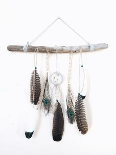 The ultimate boho piece for any Gypsy Soul, adding a natural, rustic touch to any room decor!  This piece features a 4 leather-wrapped