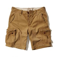 Hollister Mens Cargo Shorts Khaki