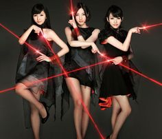 Perfume (Japanese) - Ayano Omoto, Yuka Kashino, Ayaka Nishiwaki.  (and previously Yuka Kawashima) - This is the cover of their 'Laser Beam' album.