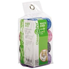 Clean Go Pet Dog Waste Bags, Value Pack, 8 Perforated Rolls of 20 Durable Leakproof Plastic Poop Bags Per Roll by Clean Go * Want additional info? Click on the image. (This is an affiliate link and I receive a commission for the sales)