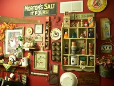 I want my kitchen walls to look like the walls of Cracker Barrel. I love old (vintage/shabby-chic) decor!