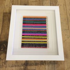 30 pencils for a birthday present. Framed in a white box frame 30th Birthday Presents, White Box Frame, Box Frames, More Fun, 30 Birthday Gifts