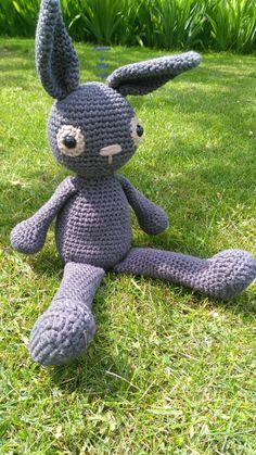 Bunny crochet toy by RiBakcrafts on Etsy