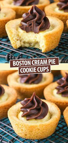 Easy No Bake Desserts, Mini Desserts, Cookie Desserts, Cookie Recipes, Delicious Desserts, Cookie Pie, Vegan Recipes Easy, Baking Recipes, Bon Dessert