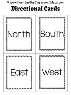 #FreebieFriday Directional Cards for your classroom room, North, South, East and West. Including a Brain Break idea for task cards of all subjects! #FREE