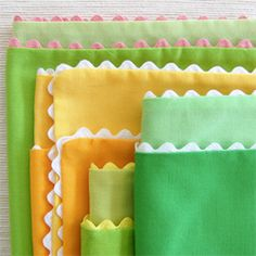 One of the best things about these napkins is how easy they are to make. (via purlbee)