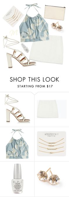 """""""Untitled #1192"""" by moria801 ❤ liked on Polyvore featuring Valentino, Zara, Moschino, Aéropostale, OPI and Ippolita"""