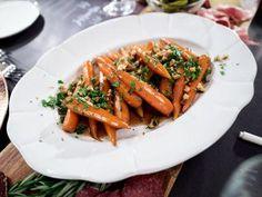 "Smokey Candied Carrots with Walnut Gremolata (Thanksgiving Feast) - Giada De Laurentiis, ""Giada's Holiday Handbook"" on the Food Network."