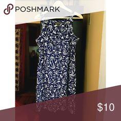 Tommy Bahamas hibiscus dress Tommy Bahamas dress ! Blue and white hibiscus flowers Tommy Bahama Dresses Midi
