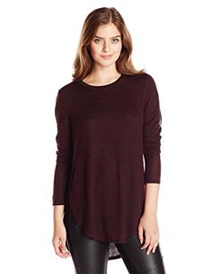 RD Style Women's Long Sleeve Faux Leather Panel Sleeved Knit Top, Cabernet, Small RD Style http://www.amazon.com/dp/B00LP6SPV4/ref=cm_sw_r_pi_dp_c0rrub0837FP9
