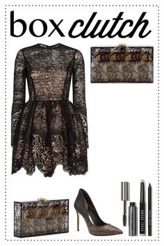"""Pretty Box Clutches"" by hybrid-rainbow ❤ liked on Polyvore featuring Charlotte Olympia, Bobbi Brown Cosmetics, Ted Baker, Alexis and BOXCLUTCH"