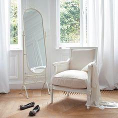 Montségur - Espejo de pie de metal blanco Al. 167cm MONTSÉGUR