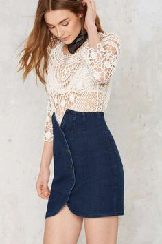 Courtshop Tonya Denim Skirt - Clothes | Pencil