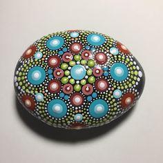 Hand Painted Mandala Stone, Mandala Meditation Stone, Dot Art Stone, Healing Stone, #504 by MafaStones on Etsy