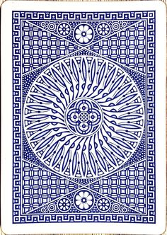Playing card pattern