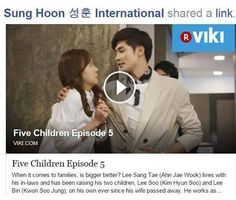 "[ FULL EP05 VIDEO ] Now is available at Viki & drama cool Under drama name "" Five Children ""  Enjoy watching #sunghoon #KBS #fiveenough #FiveChildren .. .. .. #sunghoon#성훈@sunghoon1983fighting!#ソンフン#roi#방성훈#포세이돈#成勋 #成勛#sunghoon1983 #우리동네예체능#coolkizontheblock #신기생뎐#newtalesofgisaeng #신의  #가족의탄생 #보디가드#bodyguard #열애#passionatelove #6인실 #고결한그대 #noblemylove #오마이비너스#ohmyvenus #아이가다섯#FiveChildren #버커루#buckaroo #fiveenough"