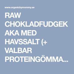 RAW CHOKLADFUDGEKAKA MED HAVSSALT (+ VALBAR PROTEINGÖMMA) – Organic By Mommy