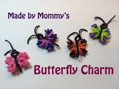 ▶ Butterfly Charm with out the Rainbow Loom - YouTube