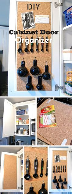 Check out the tutorial: #DIY Cabinet Door Organizer #crafts
