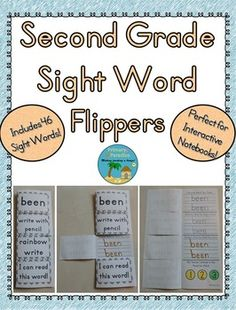 Includes 46 sight words and a bonus blank flipper so you can add your own words!  There is one flipper for each of the sight words. Each flipper asks students to trace the sight word, write it with pencil, and then rainbow write it. The repetition will help your students learn how to read and write each word. You can complete these as a class, in small groups, in a center, or independently. Also, you can have students work on the sight words they're working on so you are differentiating!