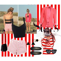 """Get the striped Look"" by nici-botha on Polyvore"