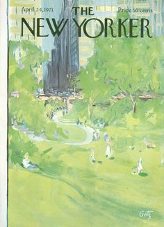 The New Yorker - Saturday, April 24, 1971 - Issue # 2410 - Vol. 47 - N° 10 - Cover by : Arthur Getz