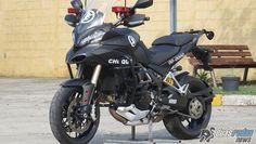 A belíssima Ducati Multistrada 1200 está em testes para se tornar a mais nova integrante do GTM da PM do Rio de Janeiro
