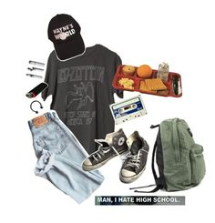 """""""3//6"""" by cobaincocaine72 ❤ liked on Polyvore featuring Converse and Hot Topic"""