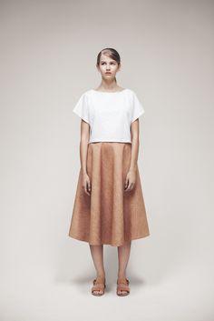 Panda Top and Asalt Skirt | Samuji SS15 Classic Collection