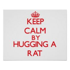 Keep calm by hugging a Rat Print