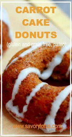 Carrot Cake Donuts (gluten and grain free, paleo) - savorylotus.com