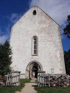 Karja Church and gates, Saaremaa island, Estonia