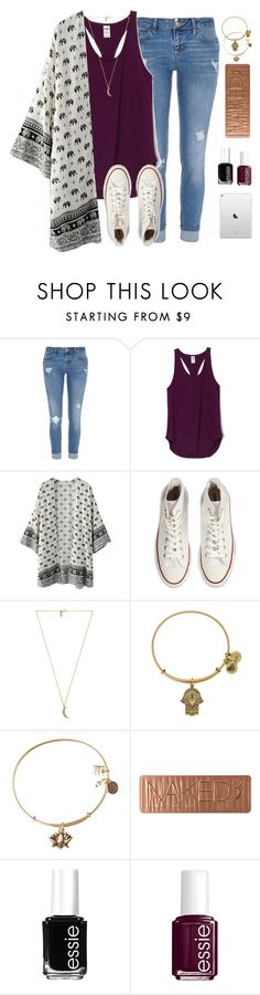 """greys anatomy"" by typical-lizzie ❤ liked on Polyvore featuring River Island, WithChic, Converse, Rebecca Minkoff, Alex and Ani, Urban Decay and Essie"