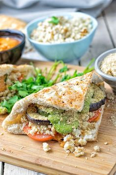 Vegan Cauliflower Rice Pesto Sandwich recipe.