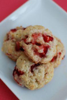 Strawberry Shortcake Cookies | Beantown Baker