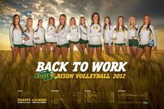 The 2012 Volleyball poster