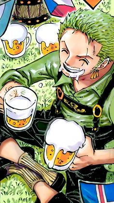 Zoro with a Lederhose That's his design at the cover of a One Piece chapter I love this because I like Zorro so much *Q* One Piece Meme, Watch One Piece, Zoro One Piece, One Piece Fanart, Roronoa Zoro, Luffy X Nami, One Piece Chapter, Chapter 3, One Piece Drawing